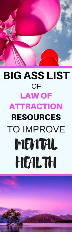 I use the law of attraction to manage symptoms of depression and anxiety. It has helped me learn be happy in the present moment. These are the best law of attraction podcasts, books and resources for mental health,