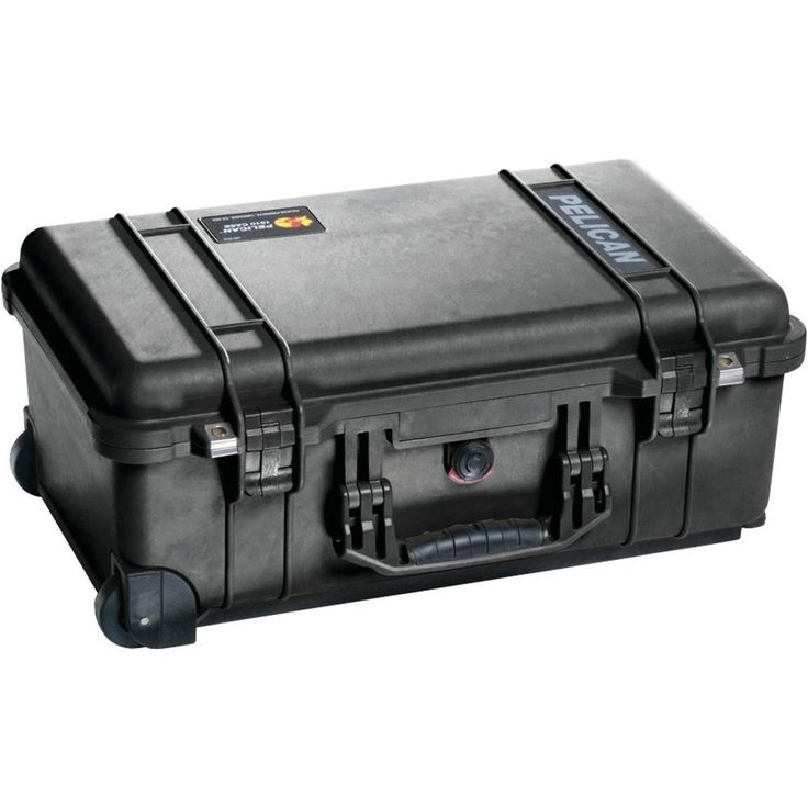 PELICAN 1510-001-110 1510 Carry-on Protector Case(TM) (No Foam). FAA maximum carry-on size;  Retractable extension handle;  Strong polyurethane wheels with stainless steel bearings;  Easy-open, double-throw latches;  Open cell core with solid wall design;  Strong & lightweight;  O-ring seal;  Automatic pressure equalization valve;  Comfortable rubber over-molded top & side handles;  Stainless steel hardware & padlock protectors;  Lifetime guarantee of excellence;  Watertight, crushproof &...