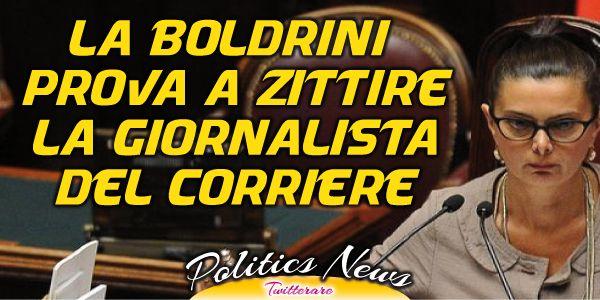 La Boldrini prova a zittire la giornalista del Corriere