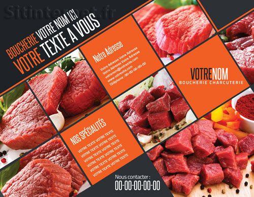 www.sitinternet.fr/  Création de flyers design pour Boucherie