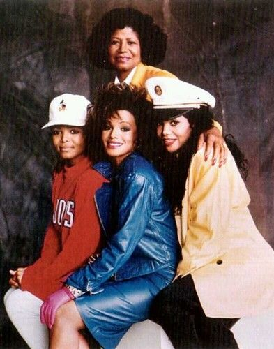 Katherine Jackson with her daughters Janet, Rebbie, and Latoya Jackson.