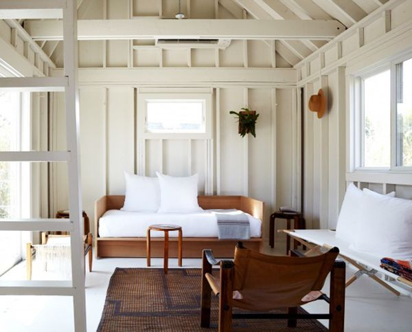 Whitewashed Fire Island Beach Cabin With Touches Of Wood