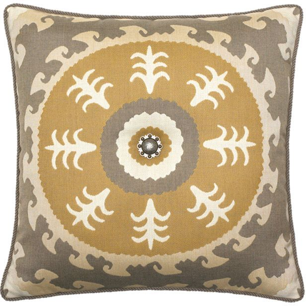 Elaine Smith Outdoor Pillow Jeweled Sedona Gold From