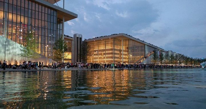 Stavros Niarchos Foundation Cultural Center by architect Renzo Piano.