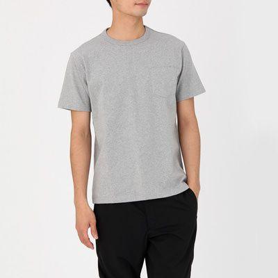 オーガニックコットン太番手クルーネック半袖Tシャツ 紳士M・グレー | 無印良品ネットストア