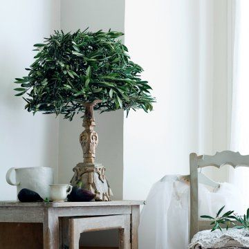 Les 25 meilleures id es de la cat gorie branches d 39 olivier sur pinterest - Recouvrir un abat jour avec du papier ...