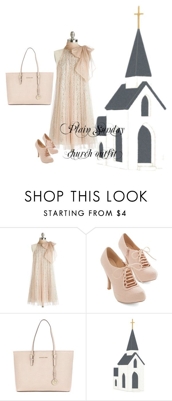 """Plain, Sunday church outfit"" by jajalamajala ❤ liked on Polyvore featuring Ryu and Michael Kors"