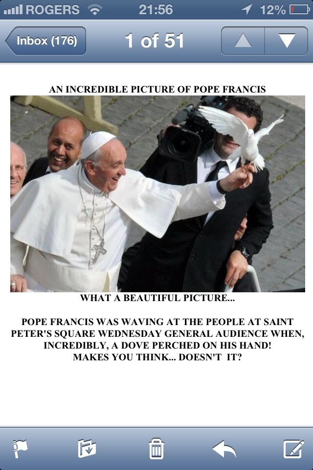 Pope Francis is a man of the people and of the church. I am so praying he brings healing to our church.