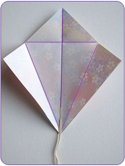 kite step1 Easy Kids Craft: Origami Kites