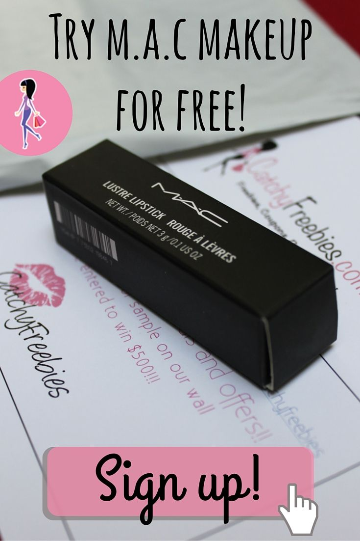 Try free M.A.C makeup samples at CatchyFreebies.com! Sign up for daily brand name samples in your inbox, members only giveaways and more! #macsamples
