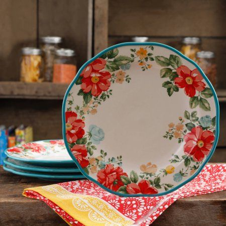 "Free 2-day shipping on qualified orders over $35. Buy The Pioneer Woman Vintage Floral 10.5"" Dinner Plate Set, Set of 4 at Walmart.com"
