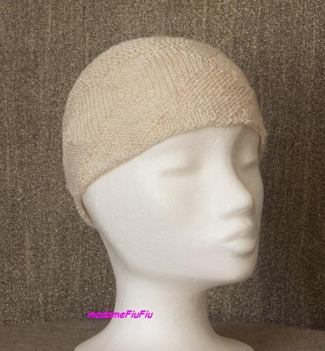Pani Anna przesłała do Sklepu Zeberka zdjęcia cienkiej czapeczki wykonanej z lnu Xima w kolorze ecru. www.sklep-zeberka.pl