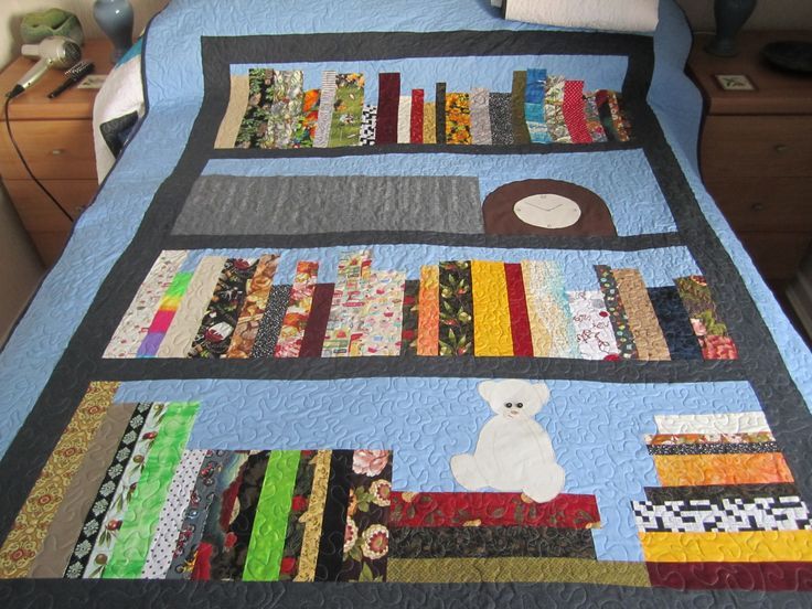 Library quilt - ideal for using up longish oddments.