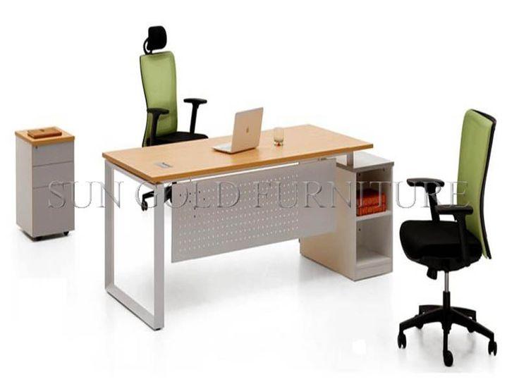 Moderno escritorio de oficina con tapa de cristal, oficina de mesa de acero con diseño de los pies, oficina de escritorio ejecutivo( sz- od010)-imagen-Mesa de madera-Identificación del producto:60091243659-spanish.alibaba.com