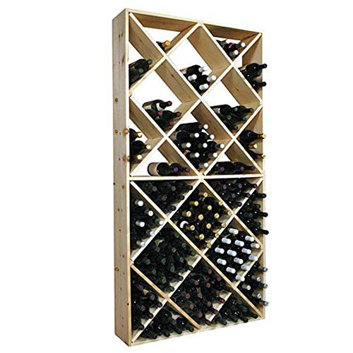 Wine Racks - Wine Cellar Innovations Rustic Pine Solid Diamond Bin Wine Rack for 208 Wine Bottles Unstained >>> Be sure to check out this awesome product.