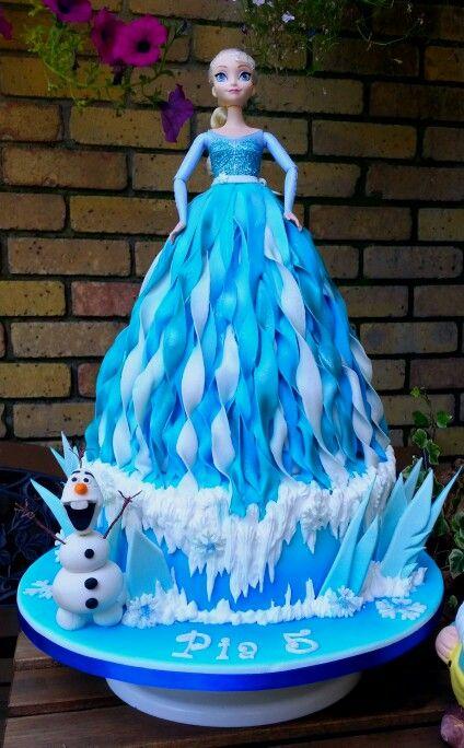 Frozen Elsa Doll Cake ❄⛄❄