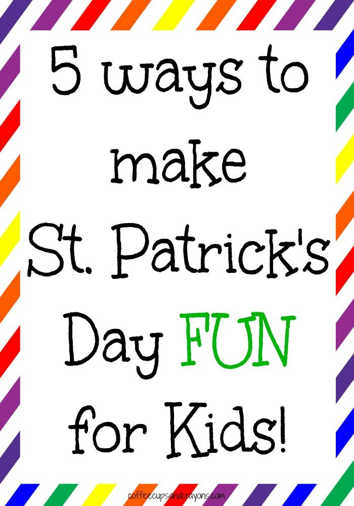 My husband and I love St. Patrick's Day and are always looking for ways to make it fun for our kids! It's the silly ideas that make everyone smile that become great family traditions and memories down the road.