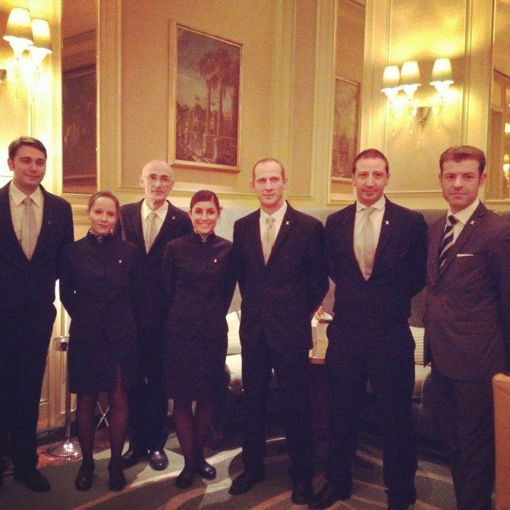 The wonderful staff at Il Salotto lobby lounge