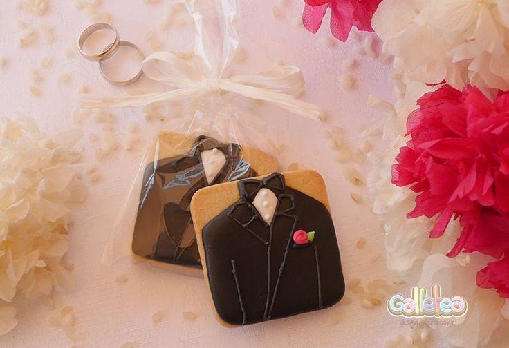 Galletas decoradas para bodas.Novio.