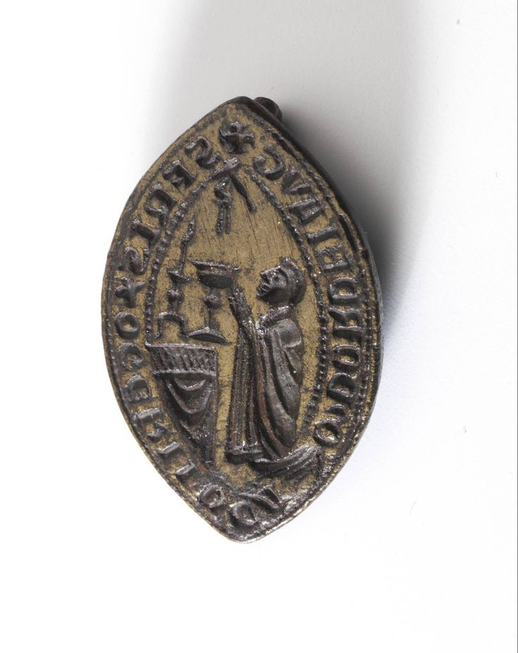 seal stamp 1350-1450 Dimensions h. 3.7 x w. 2.8 cm Material and technique bronze