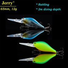 Jerry 6.5cm 12g floating crankbait rattling deep diving hard body plastic lures for bass fishing crank bait  $US $5.50 & FREE Shipping //   http://fishinglobby.com/jerry-6-5cm-12g-floating-crankbait-rattling-deep-diving-hard-body-plastic-lures-for-bass-fishing-crank-bait/    #fishinf