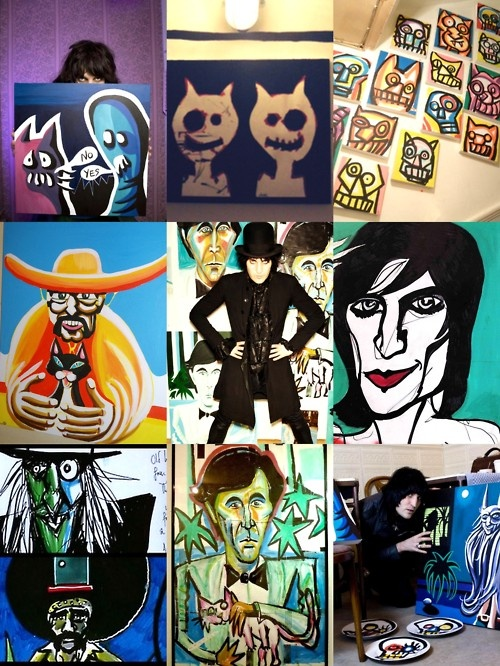 Concept Art at Noel Fielding's Art Gallery! I never knew he had an art gallery that's awesome :-D