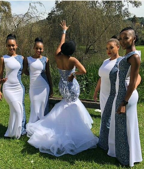 78e7cdb2cbc8d Pin by Mahmoud Mohamed on Traditional Shweshwe Dresses 2019 | African bridesmaid  dresses, African wedding attire, Bridesmaid dresses