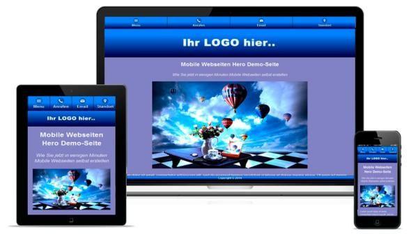 Erstellen Sie Mobile Webseiten in wenigen Minuten!