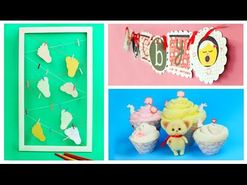 In today's tutorial we'll craft amazing baby party decorations. These wonderful DIY ideas will help you to make the baby shower party unforgettable! #babyshower #diyideas #partydecorations