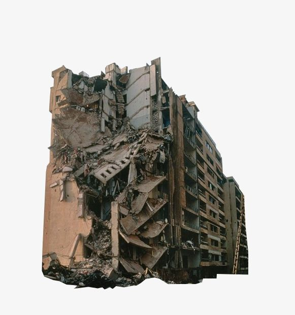 House Collapse Post Apocalyptic Art Monument Architecture Apocalypse Art