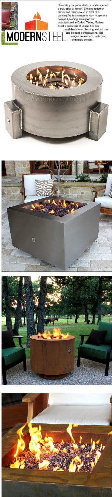 Fresh Modern Steel Fire Pit