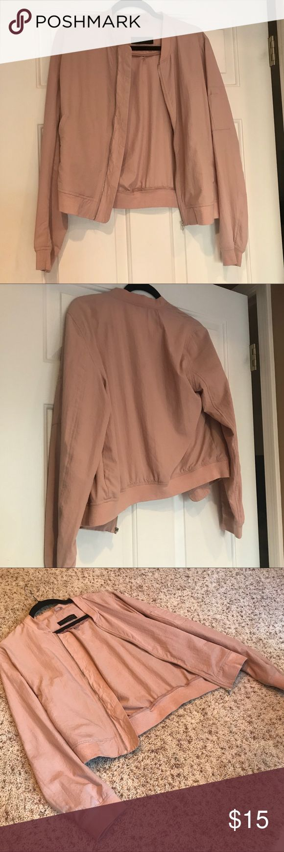 Light Pink Bomber Jacket Light Pink Bomber Jacket. Only worn once! Great condition💕 Bagatelle Heritage Jackets & Coats