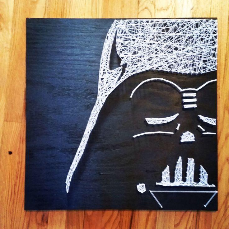 Darth Vader Star Wars String Art by DisorderAndDisarray on Etsy https://www.etsy.com/listing/210508726/darth-vader-star-wars-string-art