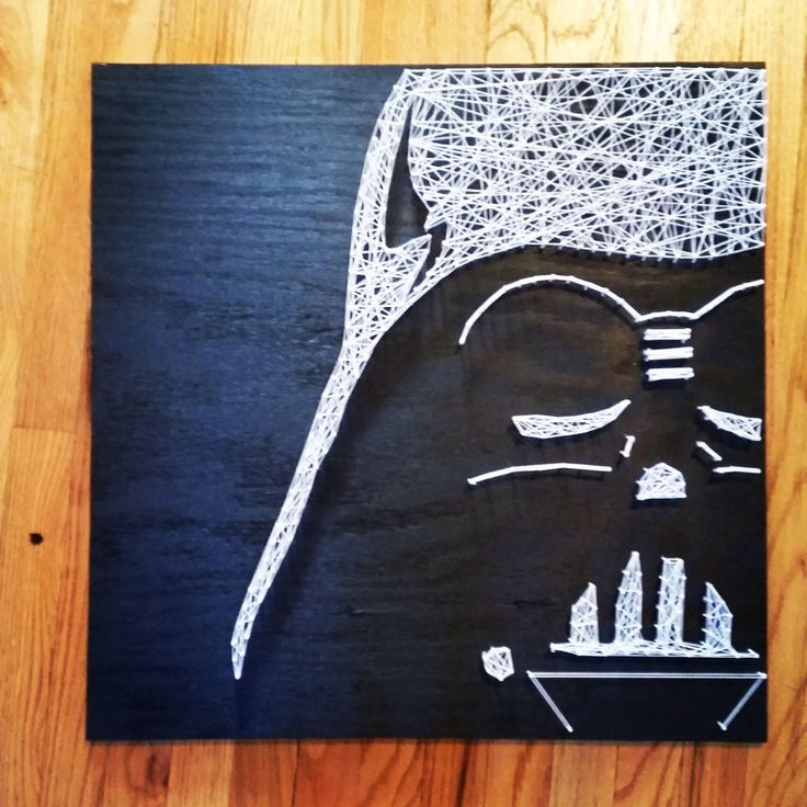 Darth Vader Star Wars String Art by DisorderAndDisarray on Etsy https://www.etsy.com/listing/210508726/darth-vader-star-wars-string-art