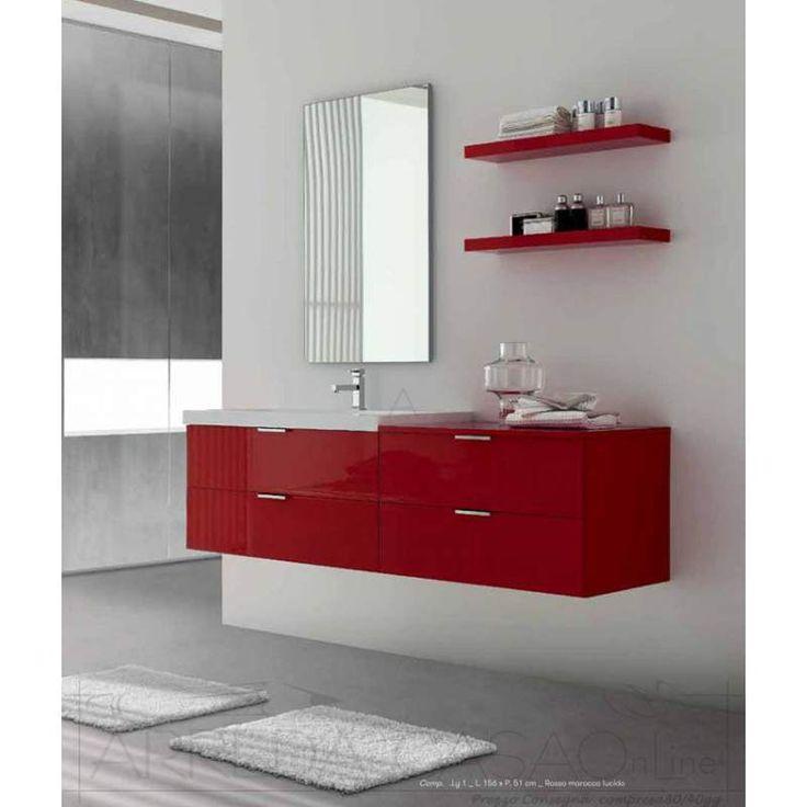 Arredo Soggiorno Rosso : Oltre fantastiche idee su arredo bagno rosso