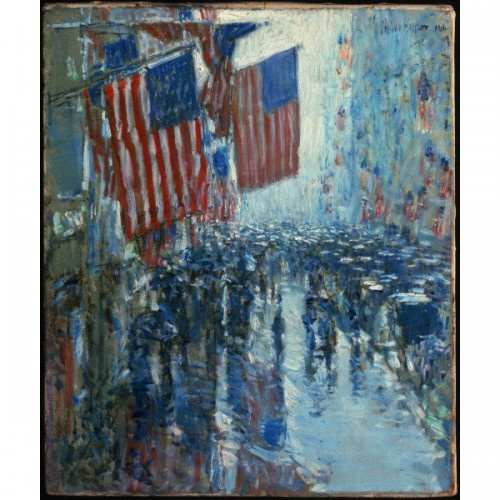 Flags Fifth Avenue Oil Painting