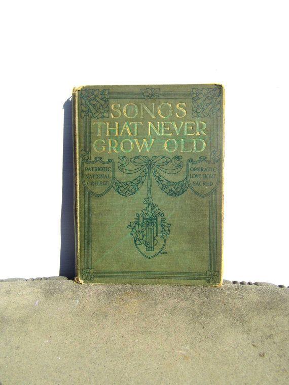 Vintage Music Book Vintage Book Antique Book by PaperWoodVintage, $22.00
