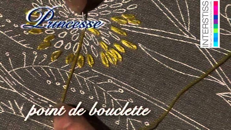 broderie le point de bouclette v deos com v rias t cnicas de bordar pinterest bordado. Black Bedroom Furniture Sets. Home Design Ideas