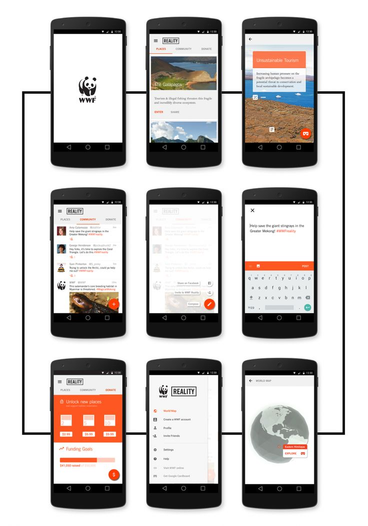 Signa Android UI Design Community — Application concept by Zach Becker