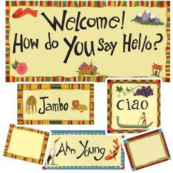 Bulletin board: Multicultural Classroom