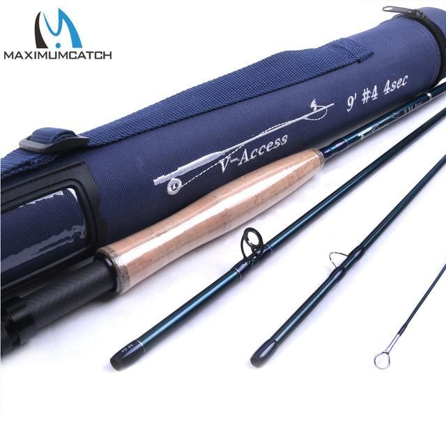 V Access 3 4 5 6 7 8 9 10 12wt Fly Fishing Rod 8ft 9ft Carbon Fiber Fast Action Fly Rod With Cordura Tube