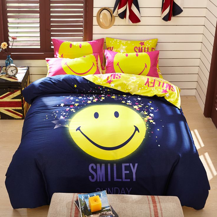 Emoji Bedroom Set Queen Size Bed