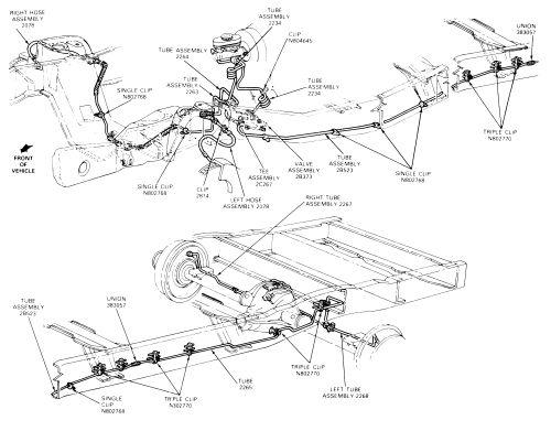 brake lines diagram view