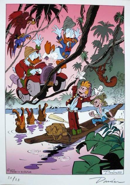Un superbe dessin de Danier, alias Daan Jeepes, dessinateur hollandais qui travailla 10 ans chez Disney aux USA.