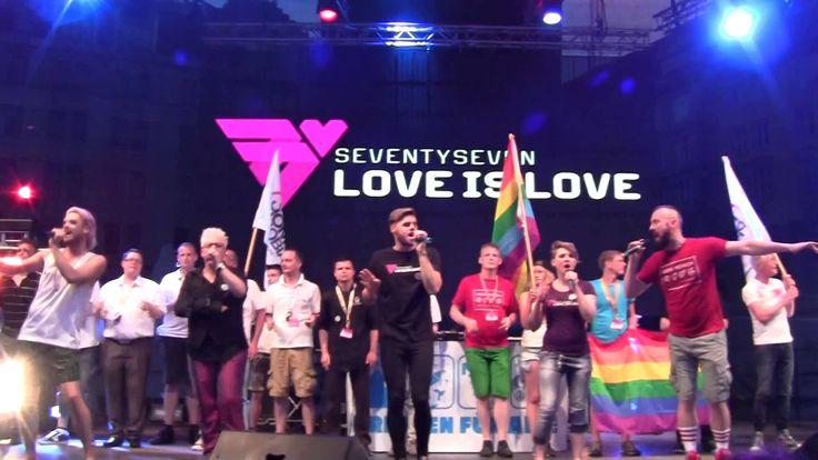 """CSD Dresden (06.06.2015) Projekt 100%Mensch mit dem Song *77 love ist love"""""""