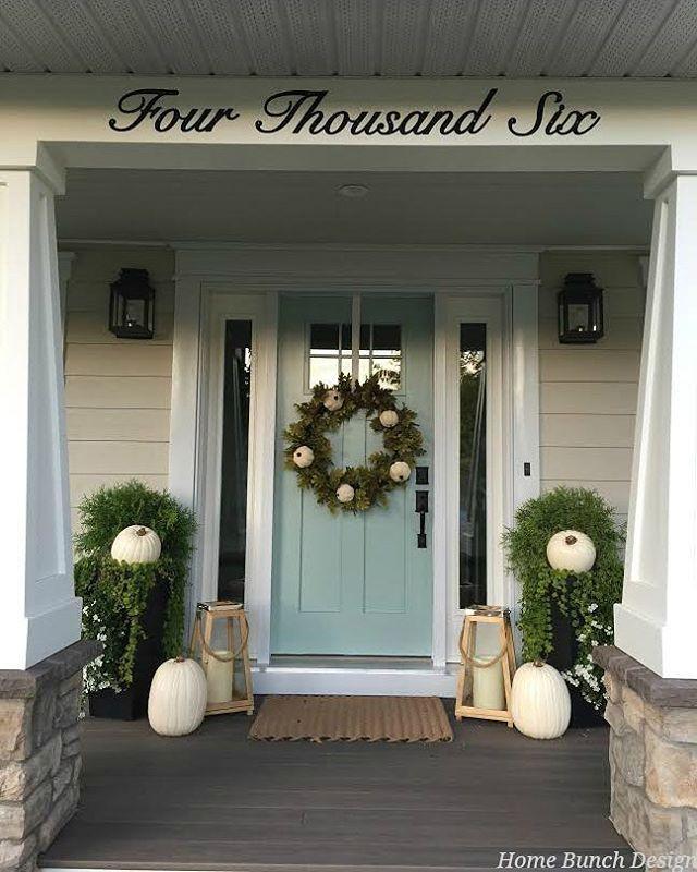 Exterior Front Door Fall Decorations: 11 Best Brick House Trim Colors Images On Pinterest