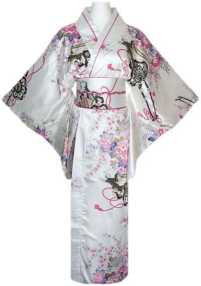 kimono japonais femme blanc http://www.laciteinterdite.com/kimono-geisha-blanc-avec-obi-et-noeud-c2x9349033
