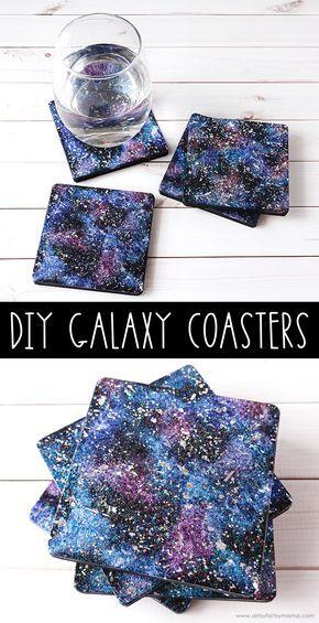 DIY Galaxy Untersetzer