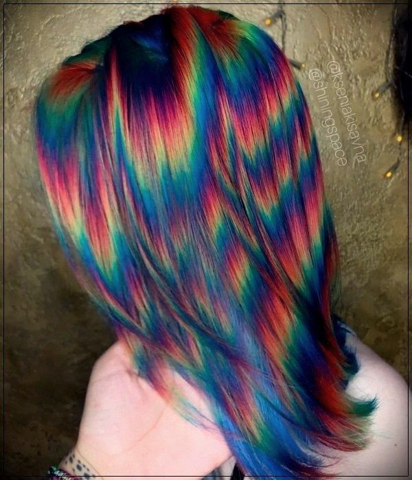 8 Rainbow Hair Styles To Give Your Look Colorshort And Curly Haircuts Holographic Hair Hair Styles Rainbow Hair Color