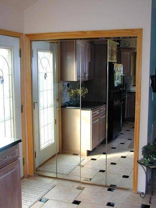 Mirrored Bifold Closet Doors For Bedrooms : Best mirrored closet doors images on pinterest